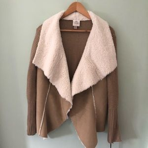 NWT Knox Rose Sherpa sweater jacket Medium